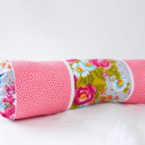 Nackenrolle Pink Blumen
