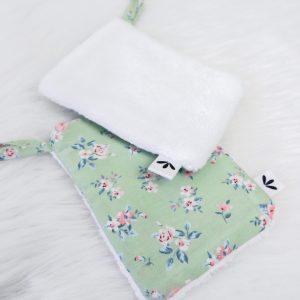 Kosmetikpad – Green Flowers