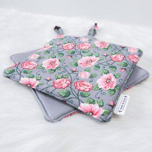 Topflappen Grey Roses