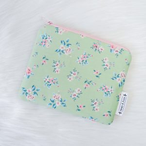 Mini Pouch Green Flowers